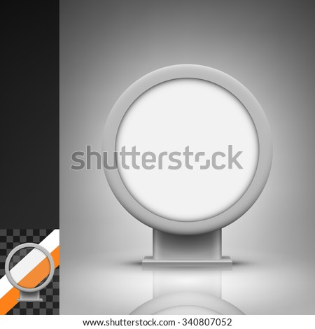 Template for advertising and corporate identity. Round citylight. Blank mockup for design. Vector white object - stock vector