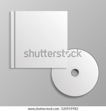 Template for advertising branding and corporate identity compact disk with cover eps 10