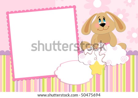 Template for baby's photo album or postcard (EPS10)