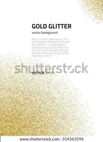 Template for banner, flyer, save the date, birthday party or other invitation with gold background. Gold glitter card design. 100% vector design template - easy to use and edit.  - stock vector