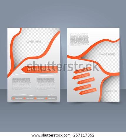 Template for brochure or flyer. Editable A4 poster for business, education, presentation, website, magazine cover. - stock vector