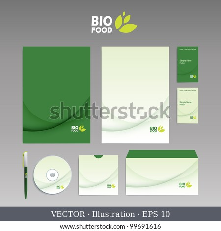 Template for Business artworks. Bio style. Vector. - stock vector