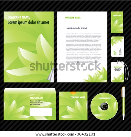 Template for Business artworks. Vector