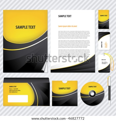 Template for Business artworks. Vector - stock vector