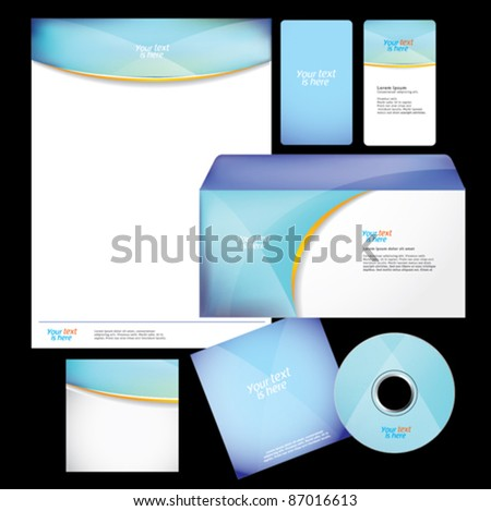 Template for business brochure - stock vector