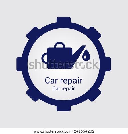 Template for car repair logos, emblems or badges - stock vector