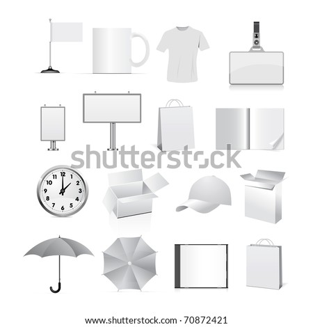 Template for corporate identity isolated on white background. Vector EPS 8.0 - stock vector