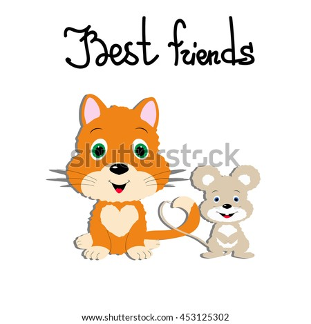 Template Greeting Card Friendship Day Couple Stock Vector