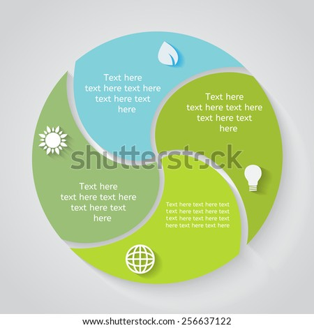 Template for infographic part 3 - stock vector