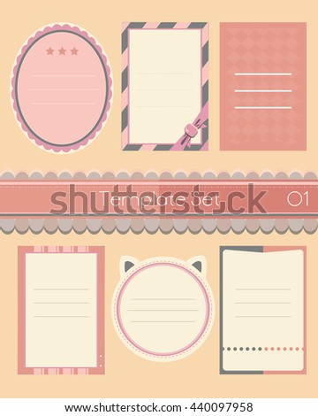 Template Name Sticker Banner Name Card Stock Vector - Name banner template