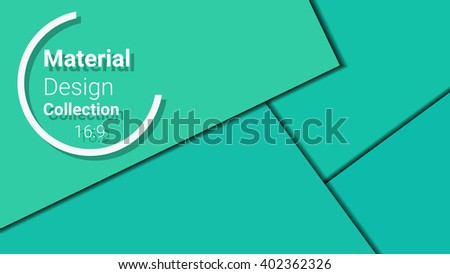 template for presentation in 16:9 format. vector illustration. designed for business background, education, web, brochure. abstract creative concept layout template in green colors. - stock vector