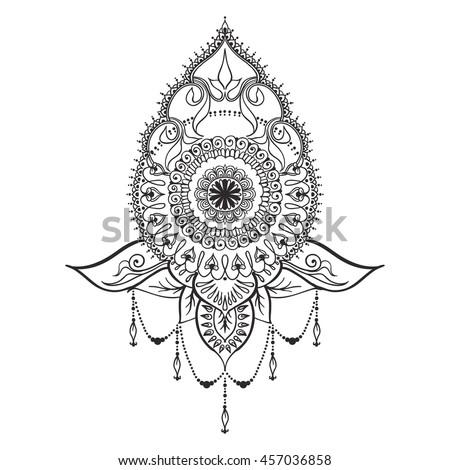 template tattoo design mehndi elements mandala stock vector 457036858 shutterstock. Black Bedroom Furniture Sets. Home Design Ideas