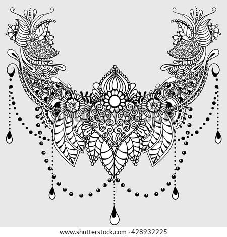 Template Tattoo Design Mehndi Elements Floral Image
