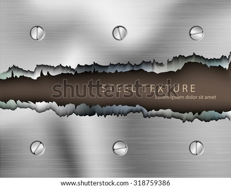 Template for the text from the metall background with shadows - stock vector