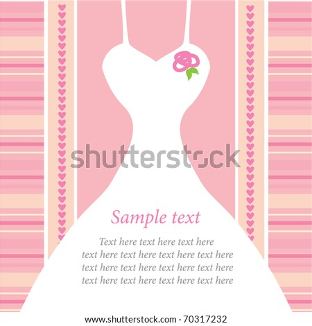 template for wedding invitations - stock vector