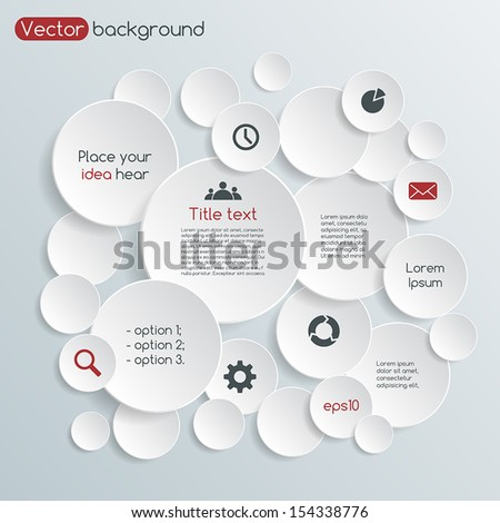 Template for your business presentation with text areas (info graphic) - stock vector
