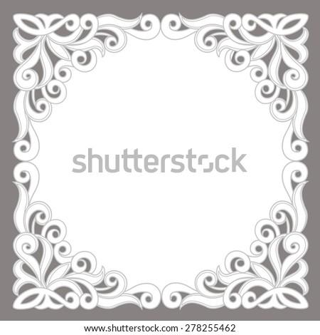 Template frame  design for card. - stock vector
