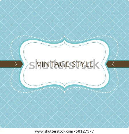 Template frame design for greeting card - stock vector