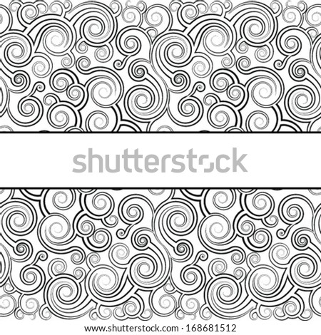 Template frame design for the card.  - stock vector