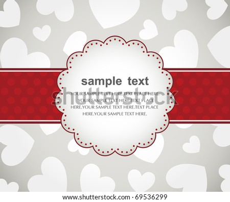 Template frame design for valentine's  day card - stock vector