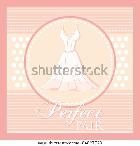 vibrant design wedding dress frame