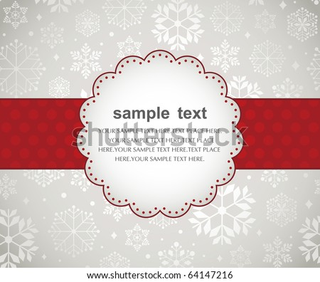 Template frame design for xmas card - stock vector