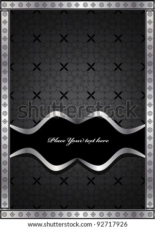Template frame design. vector illustration