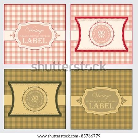 Template frames design for greeting card - stock vector