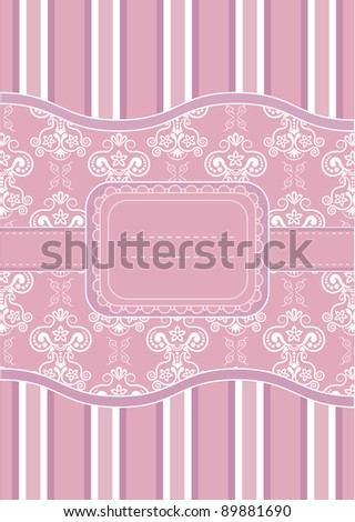 Template greeting card, vector illustration. - stock vector