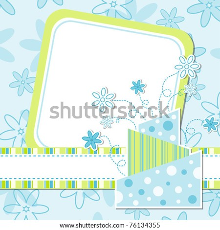 Template greeting card, vector illustration, eps10 - stock vector