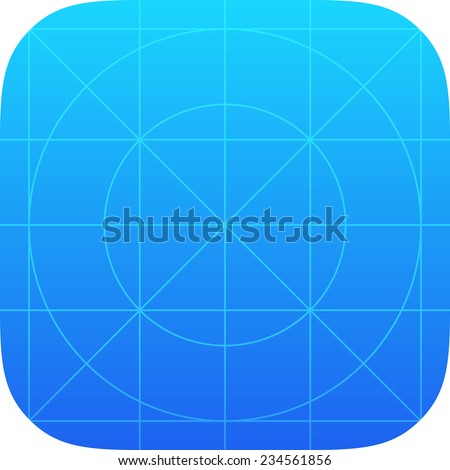 Template Icon with Guides for Application of Contemporary Mobile Operating System - stock vector