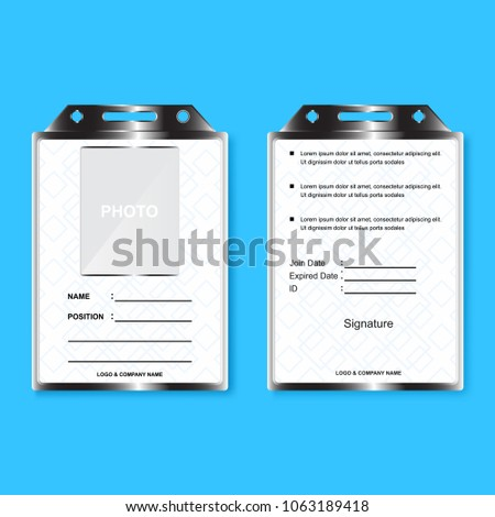 Template Id Card Blank Business Company Stock Vector