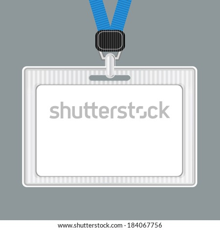 Template. Lanyard, retractor end badge. Badge templates