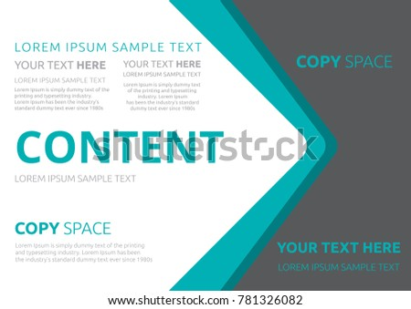 template for advertising poster