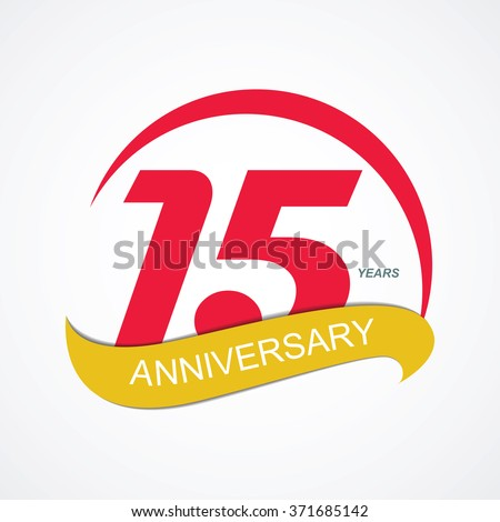 Template Logo 15 Anniversary Vector Illustration EPS10 - stock vector