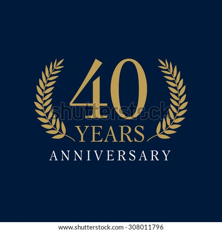 Template logo 40th anniversary with a frame in the form of ...