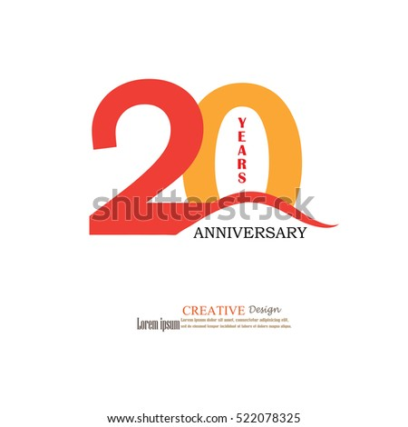 Template Logo 20th Anniversary 20 Years Stock Vector 522078325