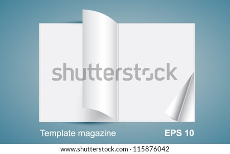 Template magazine - stock vector
