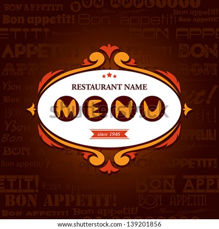 Template menu for restaurant, cafe, bare.  Vector eps 10 illustration.  - stock vector