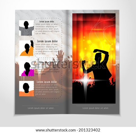 Template music event magazine. Vector  - stock vector
