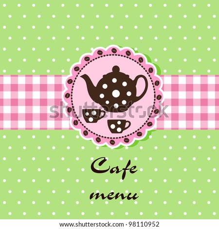 Template of a cafe menu - stock vector