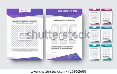 Template Modern White Flyer Blocks Text Stock Vector Hd Royalty