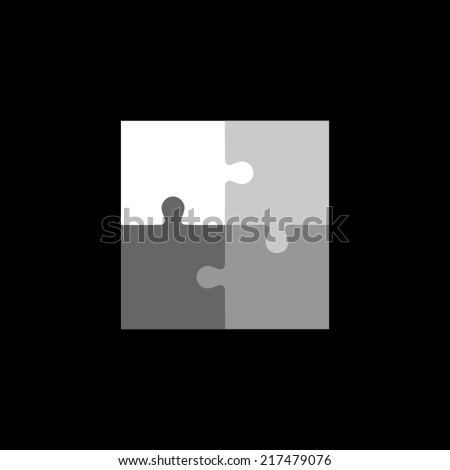 Template of abstract puzzle.