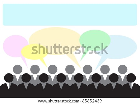 Template of an illustration for a text insert - stock vector