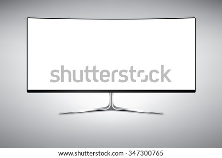 Template big curved wide screen television stock vector 347300765 template of big curved wide screen television or computer monitor vector illustration isolated on white pronofoot35fo Gallery