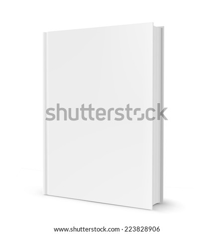 Template of blank cover book isolated on white background. Vector illustration. Realistic. - stock vector