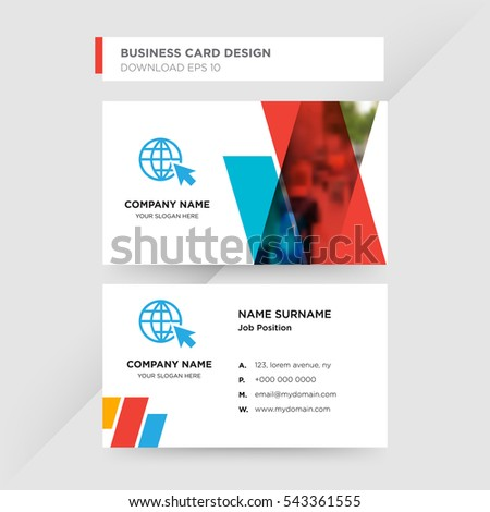 Template business card travel agent services stock photo photo template of business card for travel agent services with blue world globe vector on gray background colourmoves
