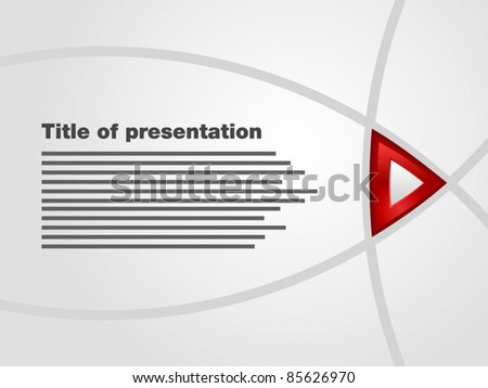 Template flash interactive presentation title red stock vector template of flash interactive presentation with title and red button maxwellsz
