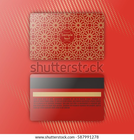 Template Luxury Loyalty Card Gold Linear Stock Vector - Loyalty card template