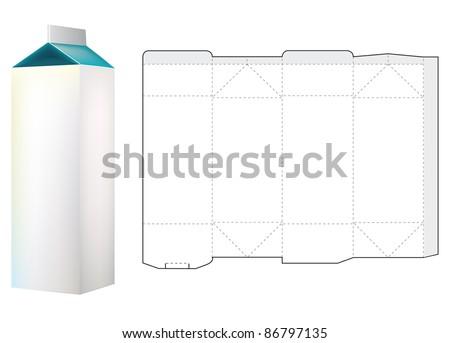 Template Of Milk Carton Box